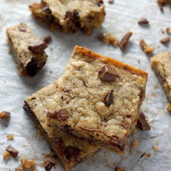 Coconut Oil Chocolate Chunk Cookie Bars