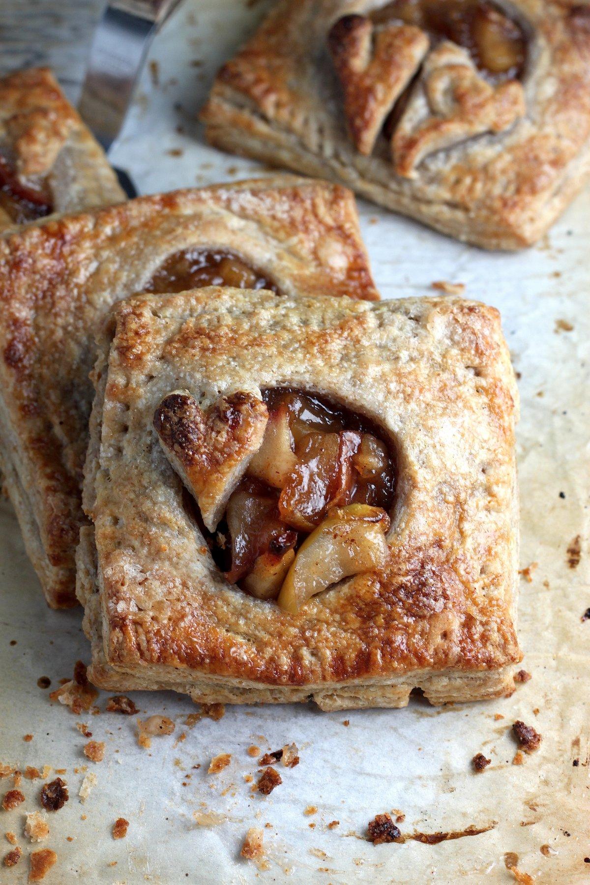 Cinnamon Apple Bourbon Hand Pies with Whole Wheat Crust