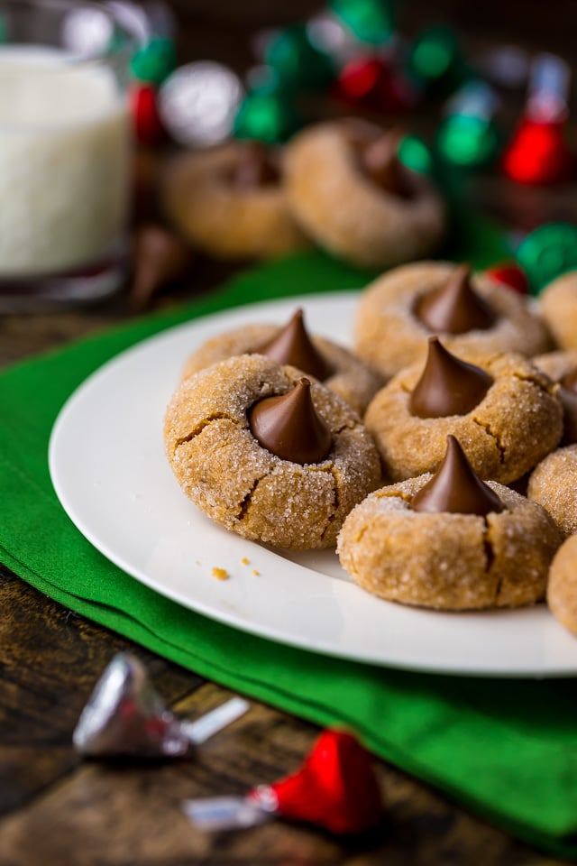 Flourless 5-INGREDIENT Peanut Butter Blossoms are the ultimate holiday cookie!!!