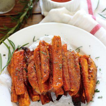Extra Crispy Rosemary and Sea Salt Sweet Potato Fries