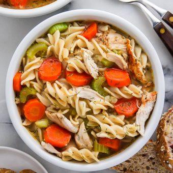 Flu Fighter Chicken Noodle Soup