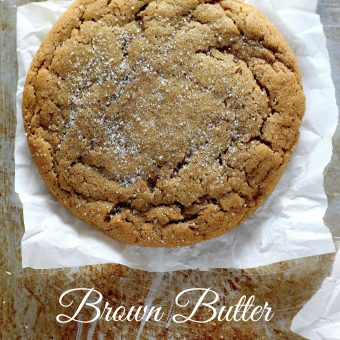 Soft and Chewy Brown Butter Gingersnaps