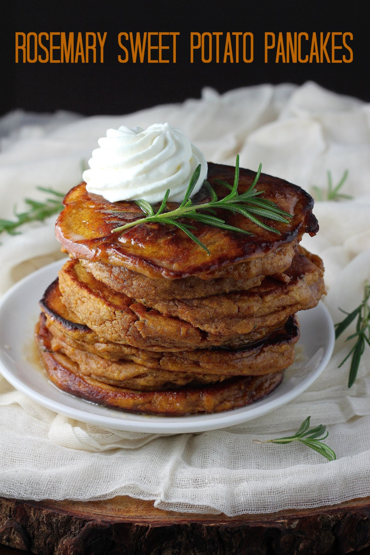 Whole Wheat Rosemary Sweet Potato Pancakes with Brown Butter Maple ...