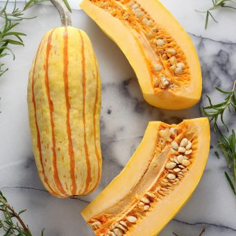 Sweet and Spicy Roasted Delicata Squash