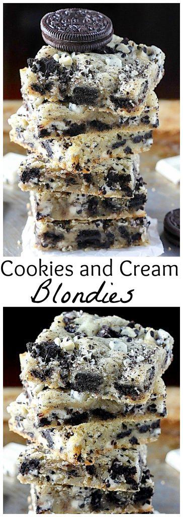 Ultimate cookies and cream blondies
