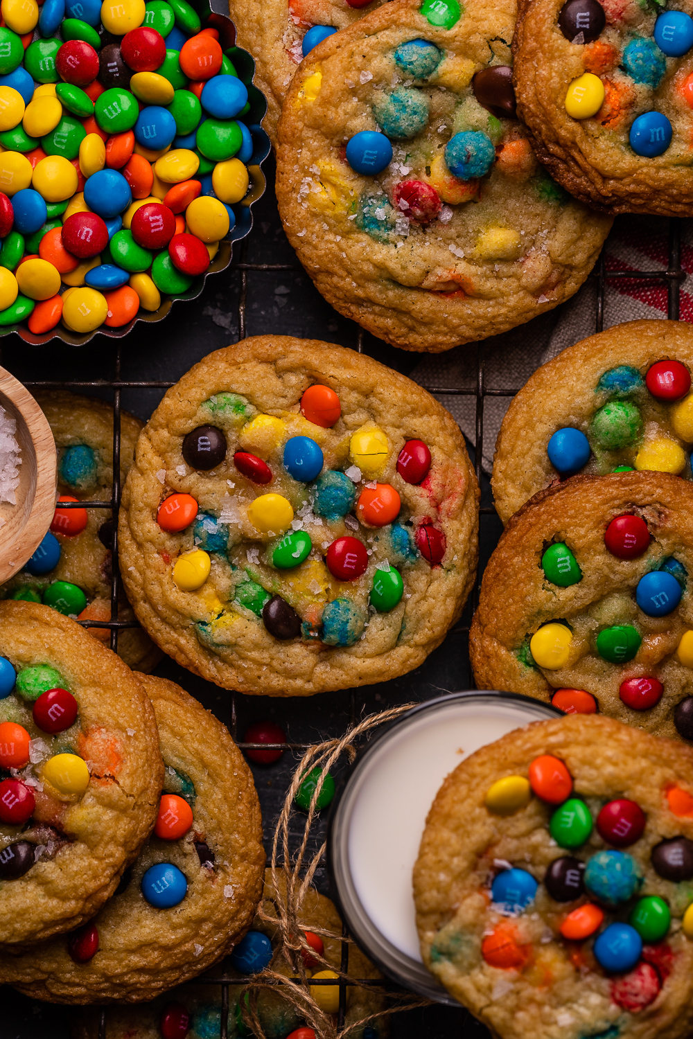 Brown Butter M&M Cookies are soft, chewy, and flavorful! Loaded with colorful M&M candies, these are always a crowd pleaser! The brown butter makes them extra special!