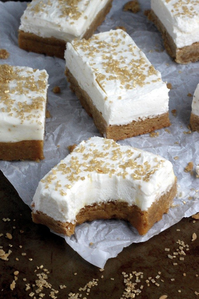 Brown Butter Sugar Cookie Bars with Bourbon Buttercream