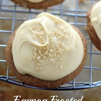 Eggnog Frosted Gingerbread Cookies
