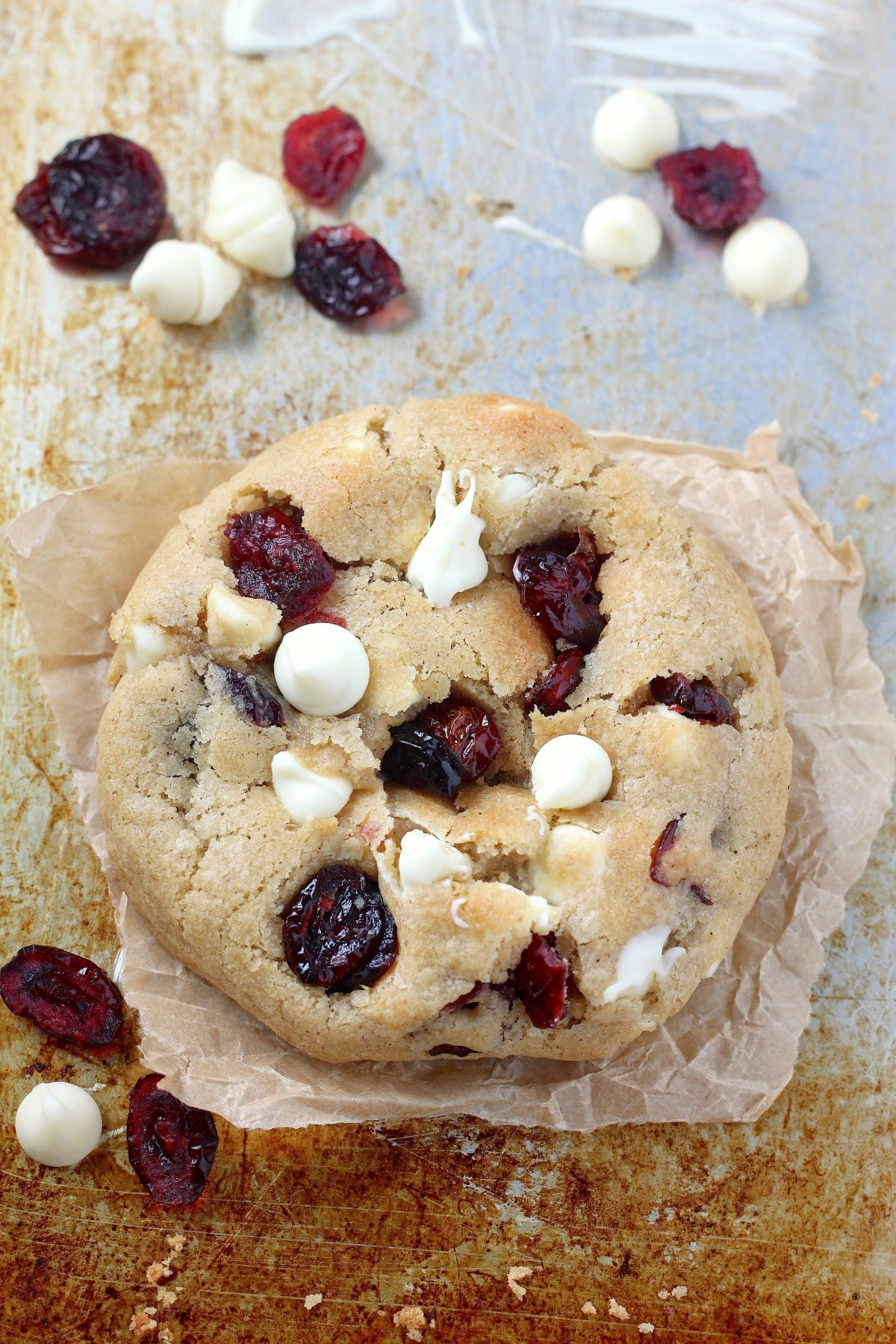 Thick and Chewy White Chocolate Cranberry Cookies - Baker ...