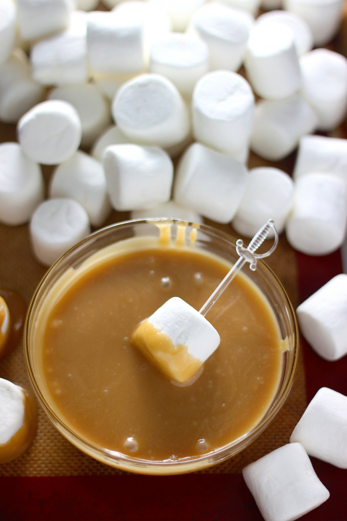 Dark Chocolate Salted Caramel Dipped Marshmallows - Baker by Nature