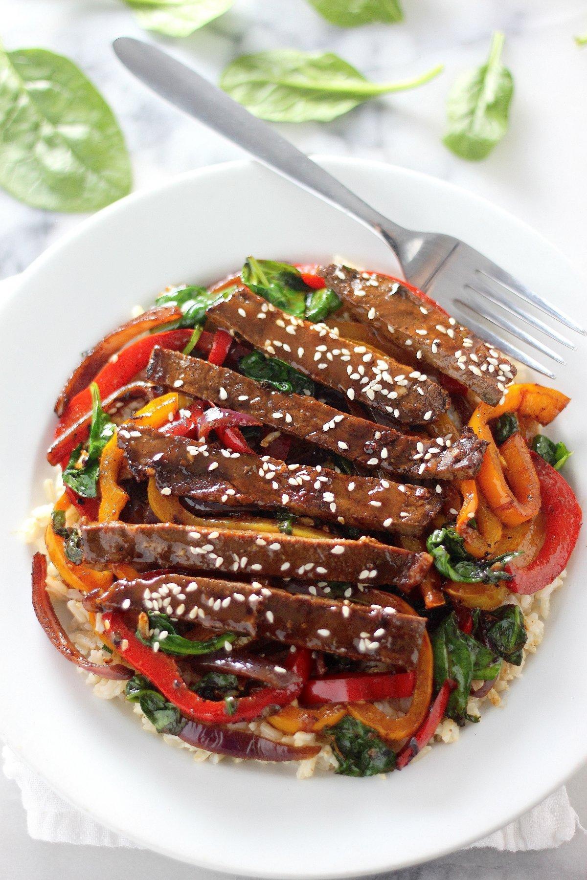 Sunday Suppers: 30-Minute Sriracha Pepper Steak - Baker by ...