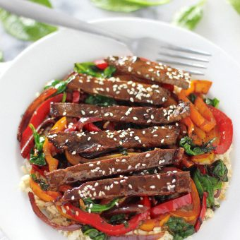 Sunday Suppers: 30-Minute Sriracha Pepper Steak