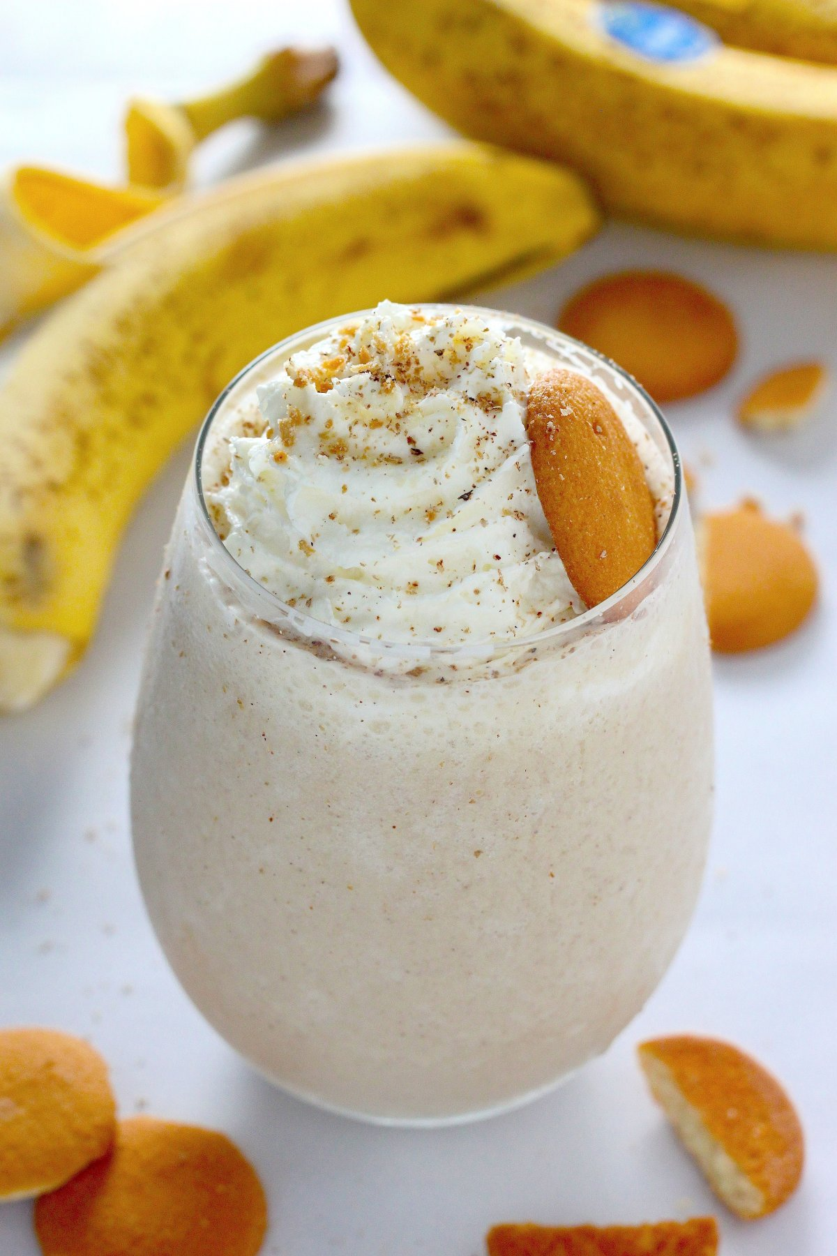 Healthy Banana Cream Pie Smoothie - Baker by Nature