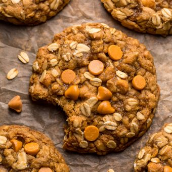 These delightfully soft and chewyoatmeal scotchies are exploding with oats and butterscotch chips! A touch of orange zest and a drizzle of molasses take this from a good recipe to a great recipe! No chilling required, so preheat your oven to 350 degrees and jump to the recipe!