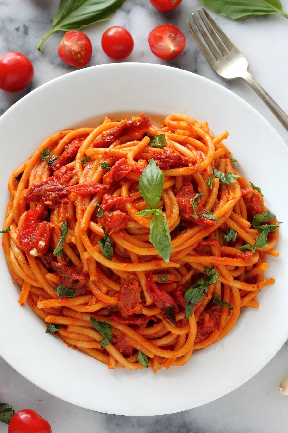 tomato basil pasta sunday suppers one pan tomato basil pasta baker by nature 11959
