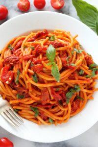 One Pan Triple Tomato Basil Pasta