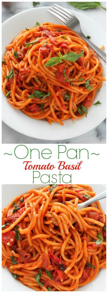 One Pan Tomato Basil Pasta