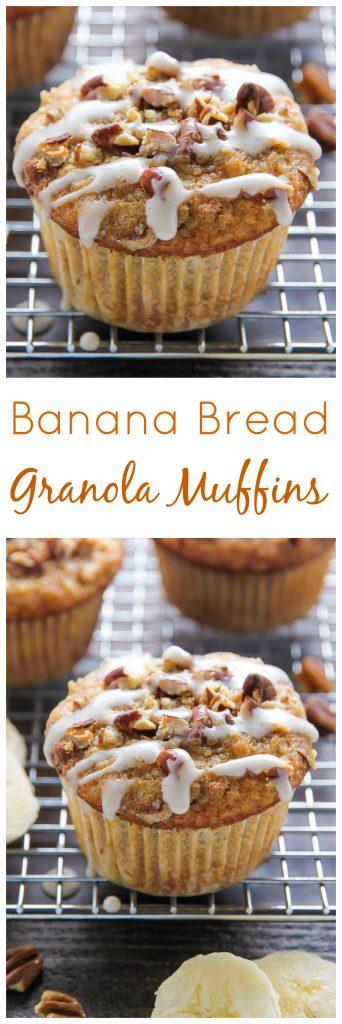 Healthy Banana Bread Granola Muffins