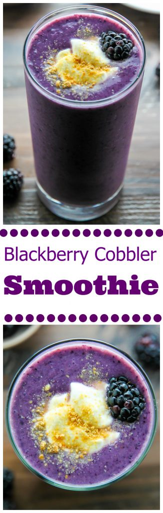 Blackberry Cobbler Smoothie - Baker by Nature