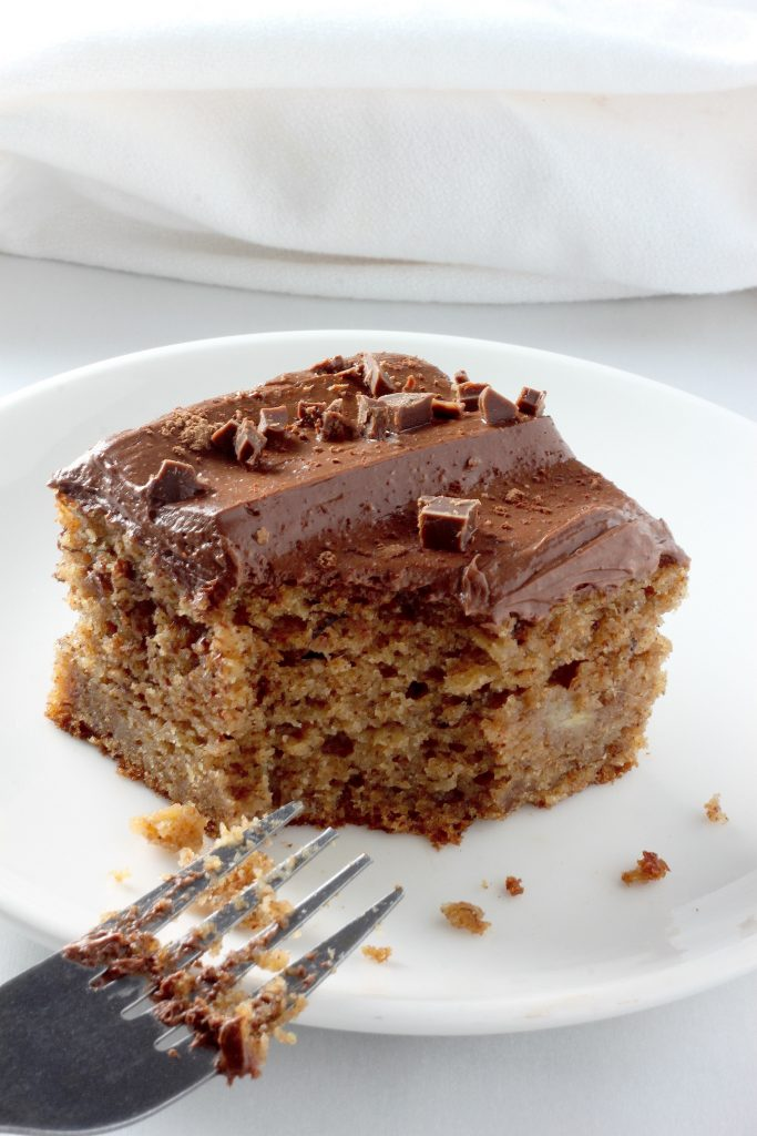 ... Whole Wheat Banana Cake with Creamy Greek Yogurt Chocolate Frosting