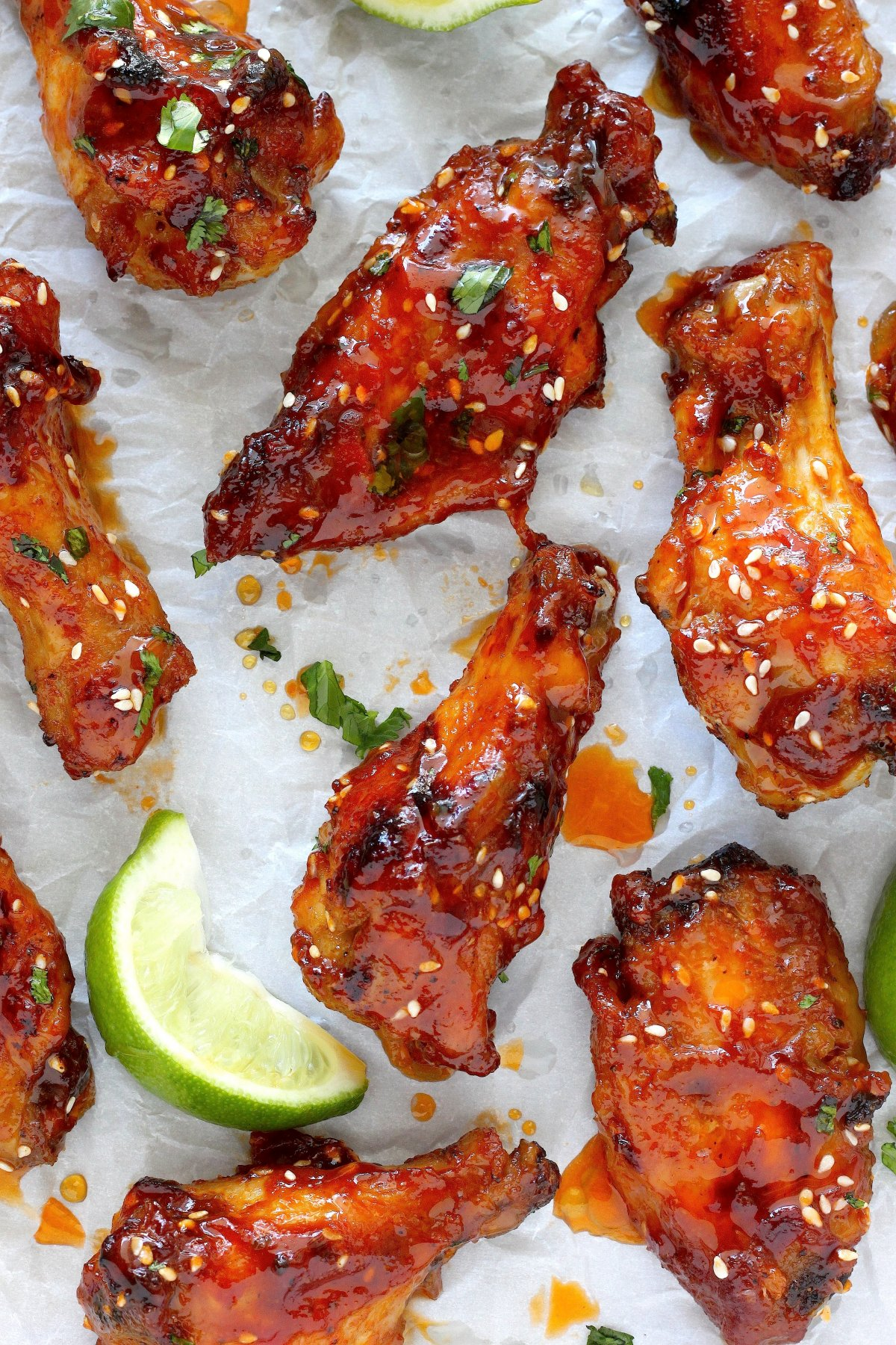 Sweet And Spicy Baked Chicken Wings Recipe — Dishmaps