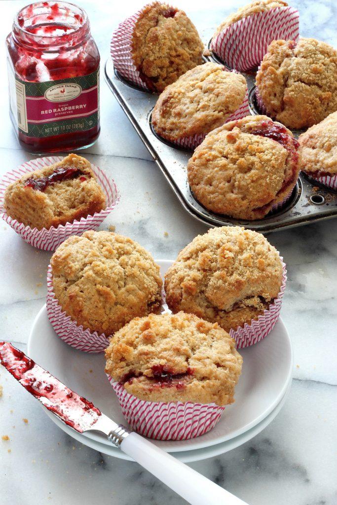 Brown Butter Raspberry Swirl Muffins