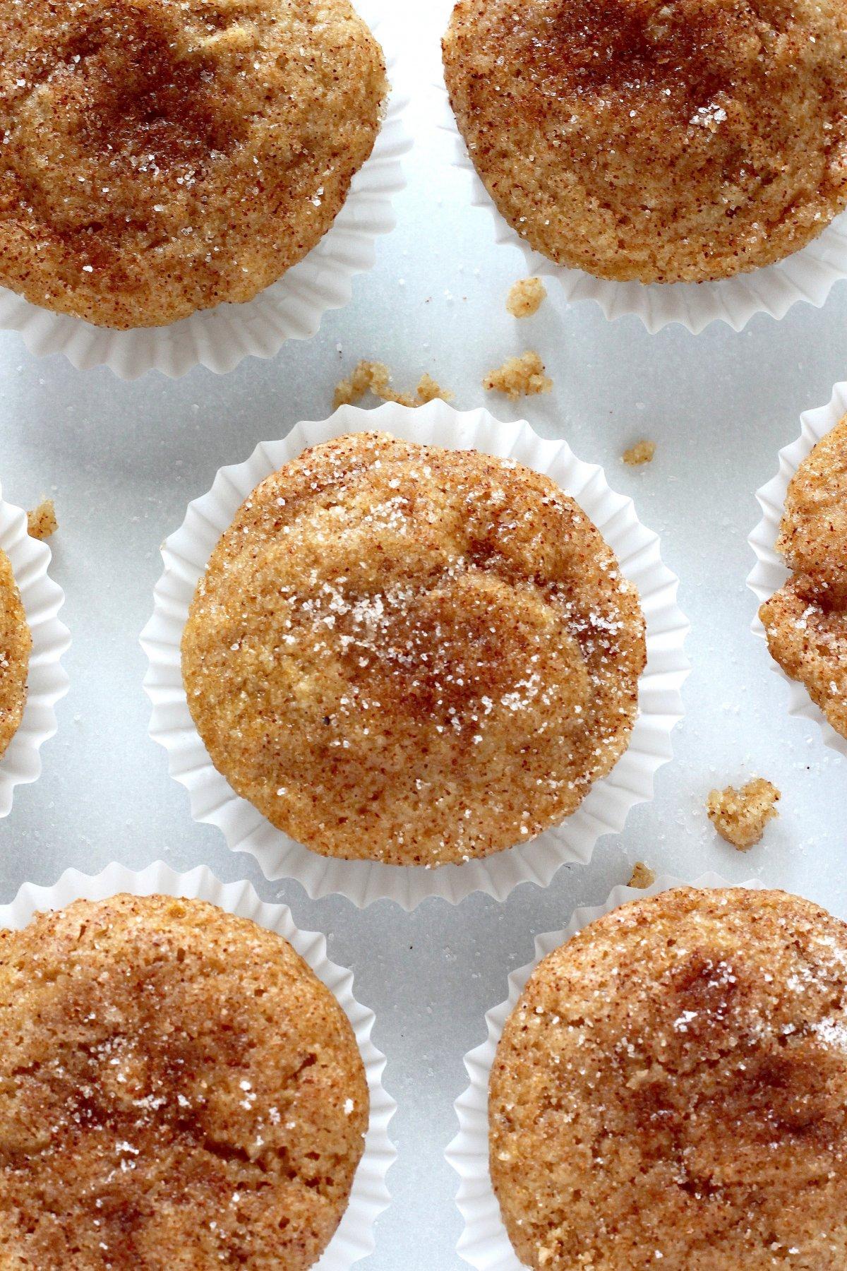 Healthy Cinnamon Sugar Mini Muffins - Baker by Nature