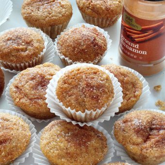 Healthy Cinnamon Sugar Mini Muffins