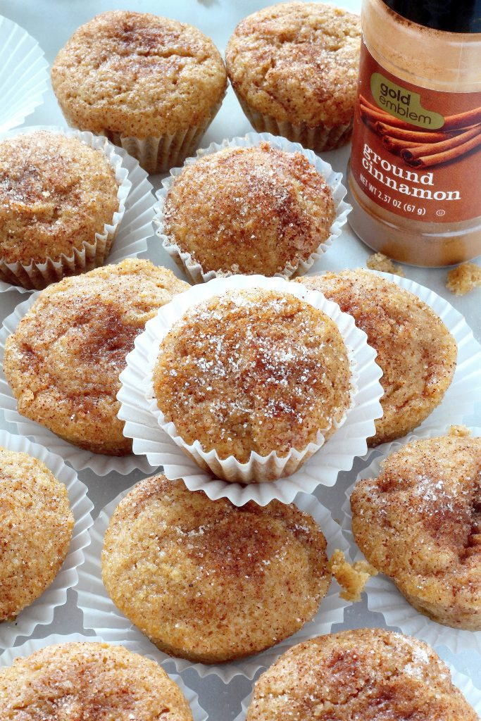 Healthy Cinnamon Sugar Mini Muffins