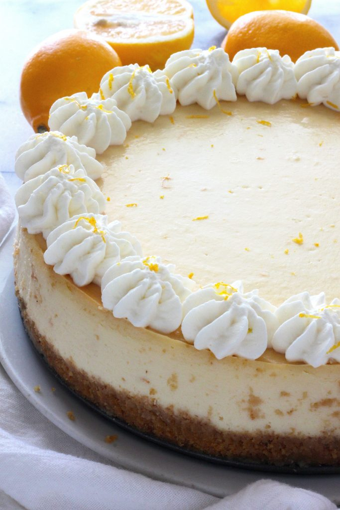 , this cheesecake combines vibrant citrus with creamy Italian Ricotta ...