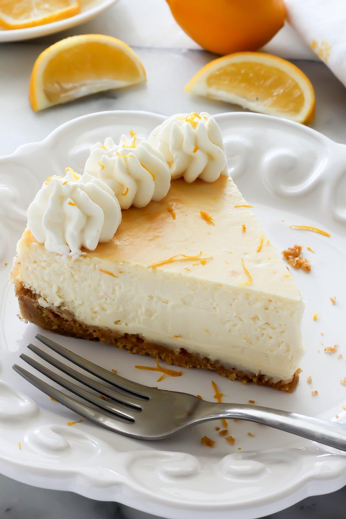 Lemon Ricotta Cheesecake - Baker by Nature