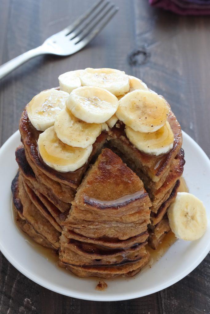 healthy banana bread pancakes