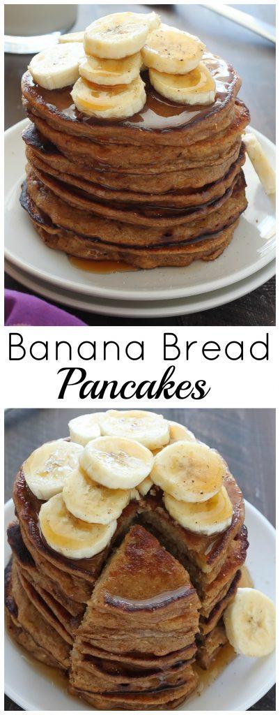 Healthy Greek Yogurt and Honey Banana Bread Pancakes - Baker by Nature