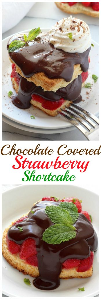 Chocolate Covered Strawberry Shortcakes