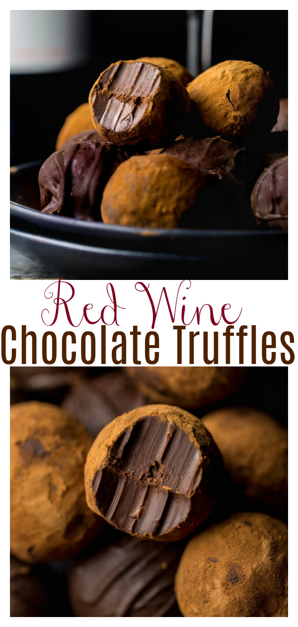 You'll love this fun and easy recipe for Red Wine Chocolate Truffles! Because is there anything better than red wine and chocolate?! These Truffles make a great homemade holiday gift!