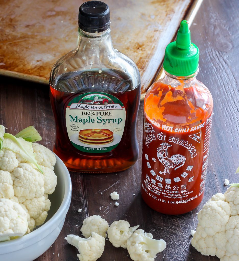 Maple Sriracha Roasted Cauliflower