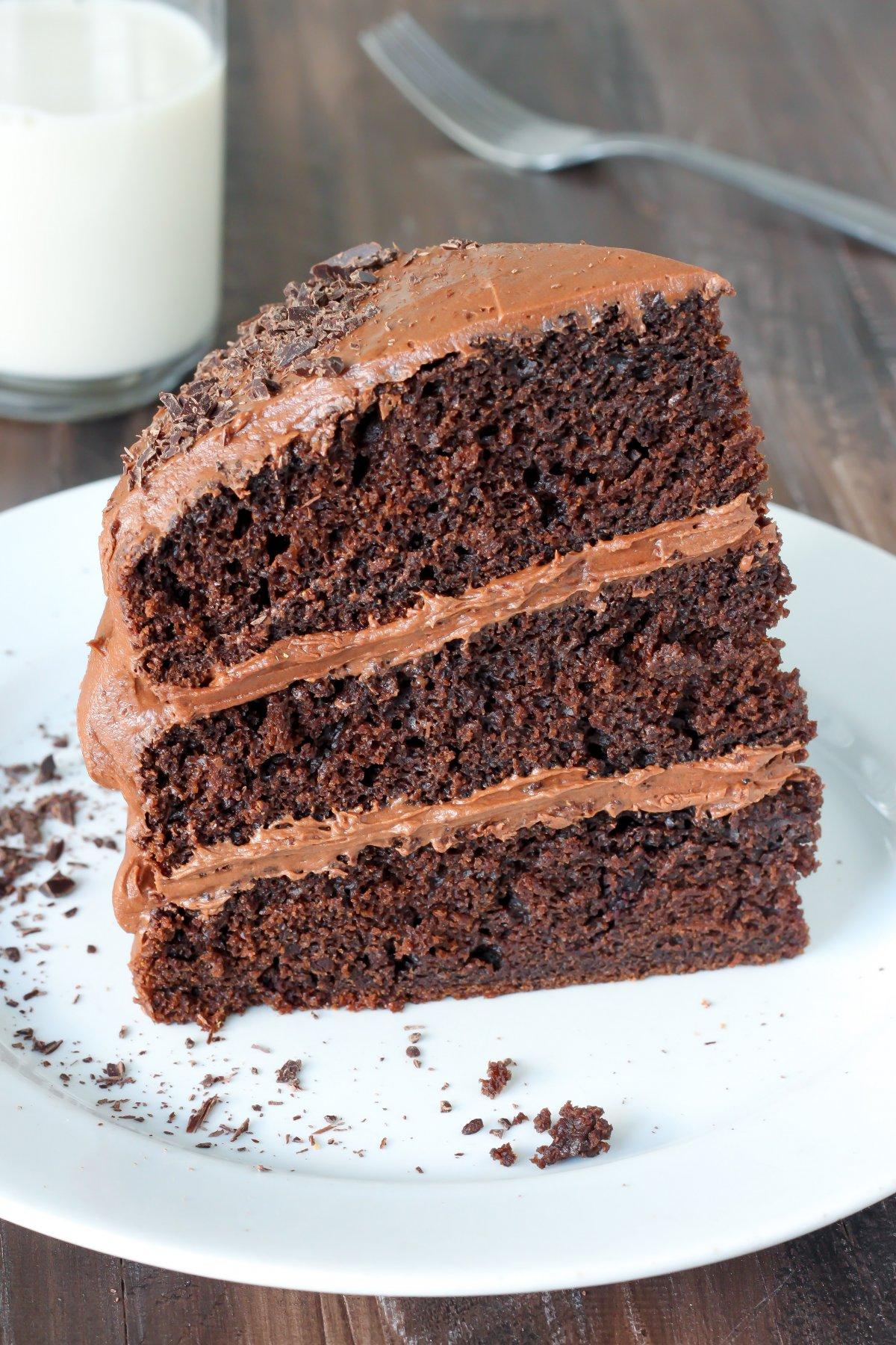 Fluffy Homemade Chocolate Cake