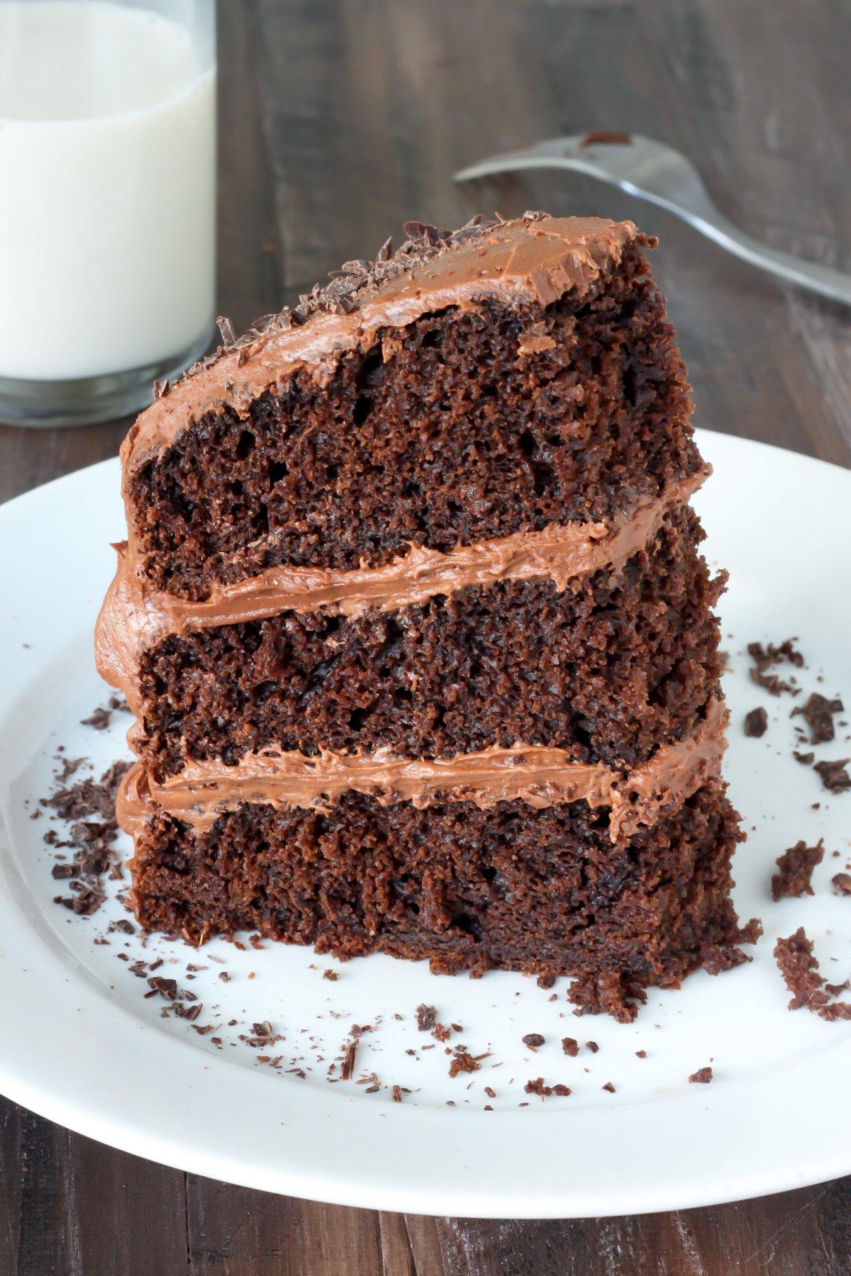 Greek Yogurt Chocolate Cake - Baker by Nature