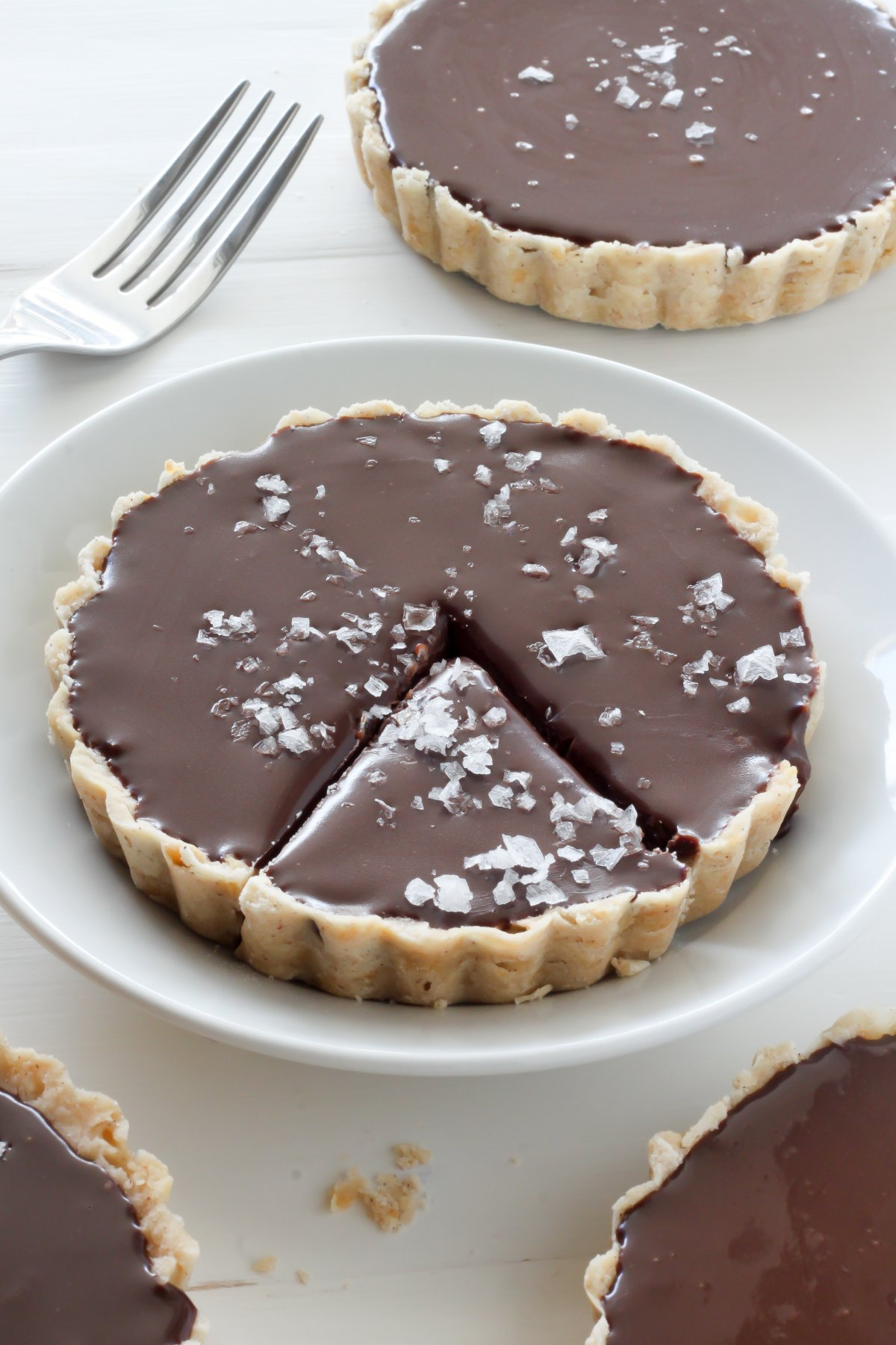 Chocolate Ganache Tarts - Baker by Nature