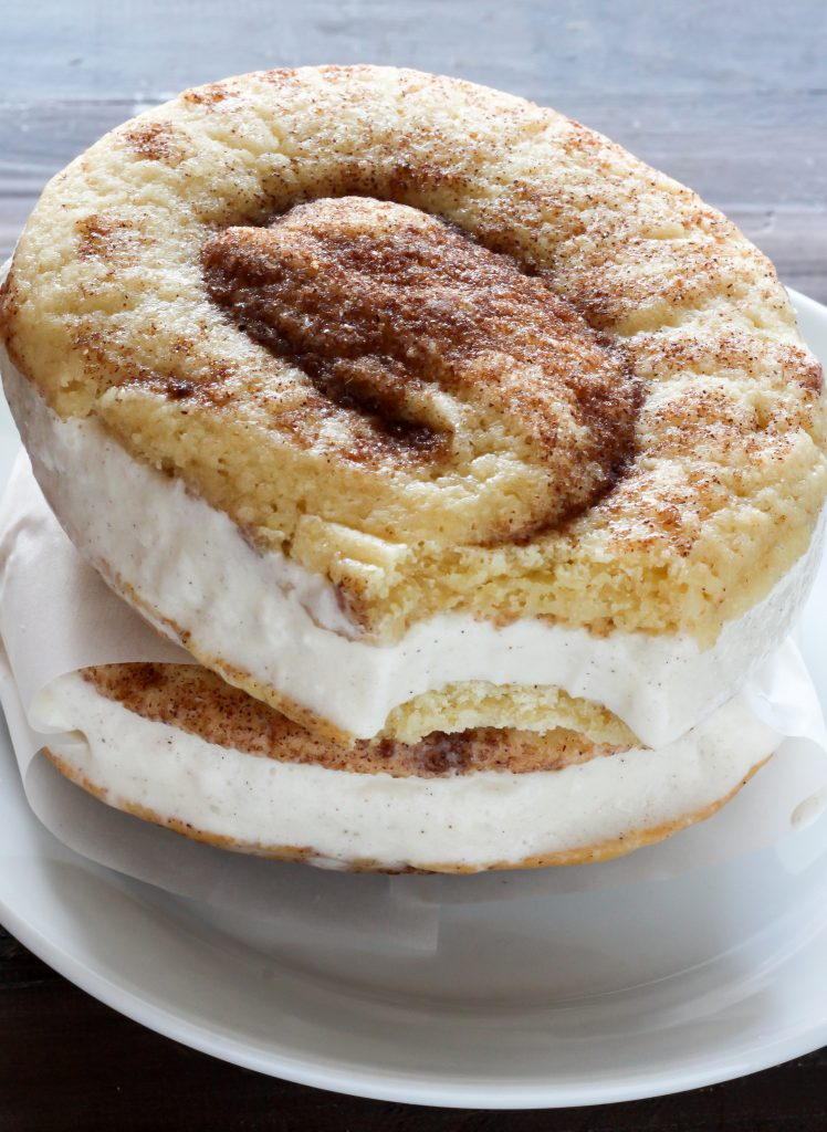 Cinnamon Roll Ice Cream Sandwiches