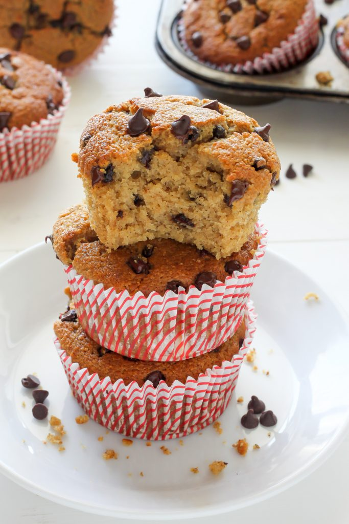 Healthy Bakery Style Chocolate Chip Muffins