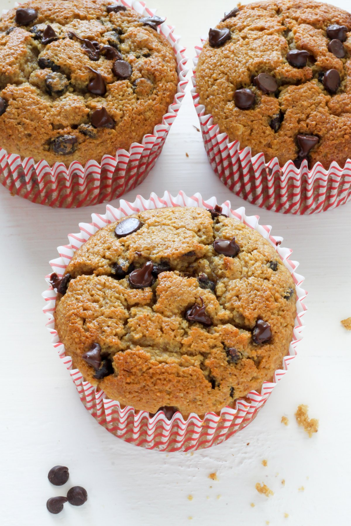 Healthy Bakery Style Chocolate Chip Muffins - Baker by Nature