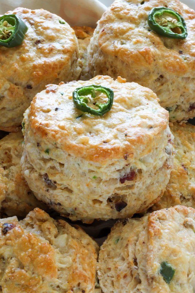 Bacon, Pepper Jack, and Jalapeno Scones