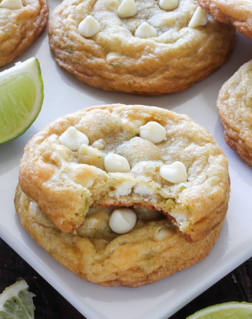 https://bakerbynature.com/white-chocolate-coconut-key-lime-cookies/