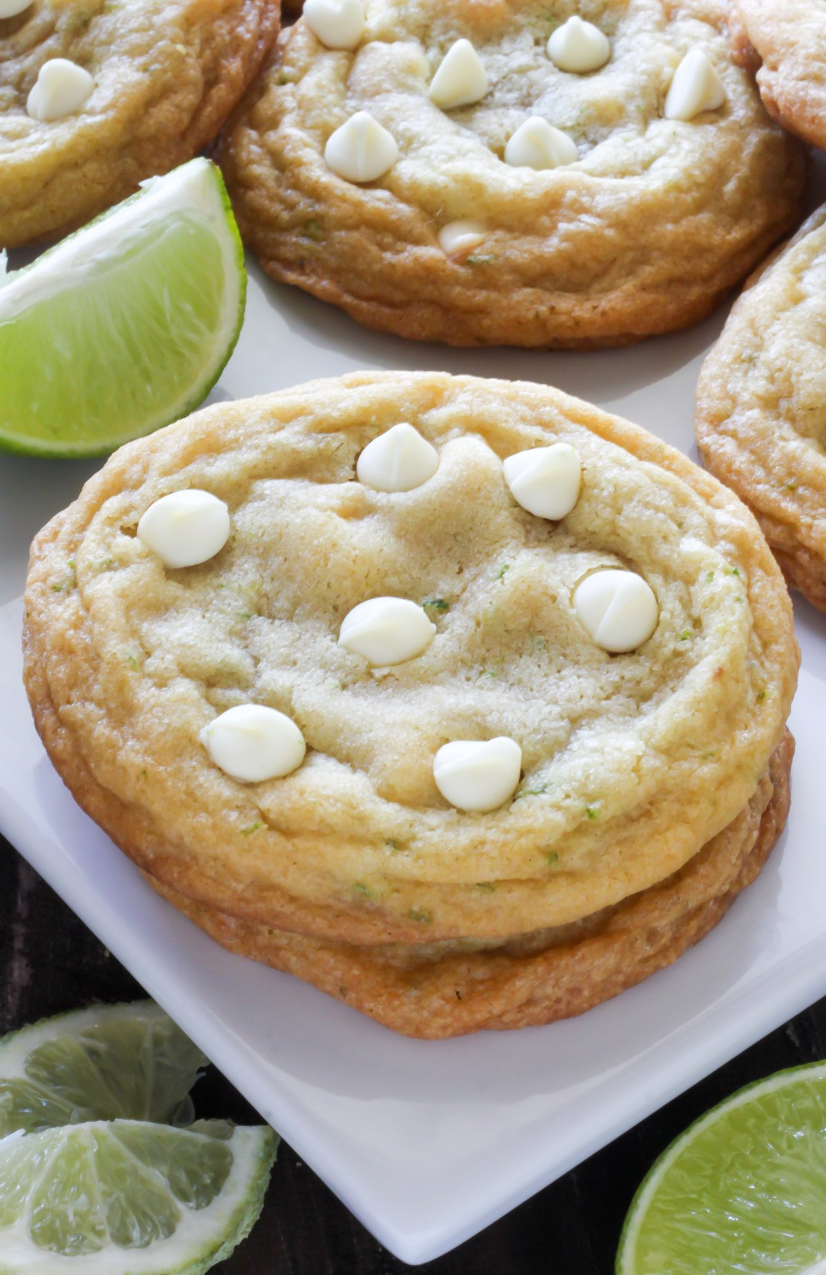 White Chocolate Coconut Key Lime Cookies Baker By Nature