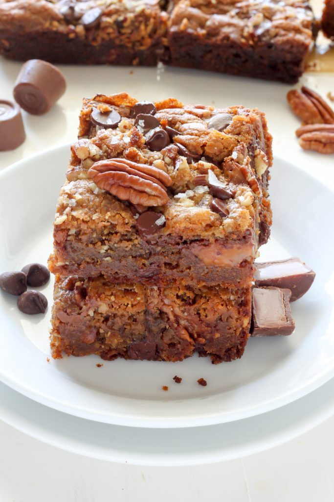 Salted Caramel Chocolate Pecan Brown Butter Blondies