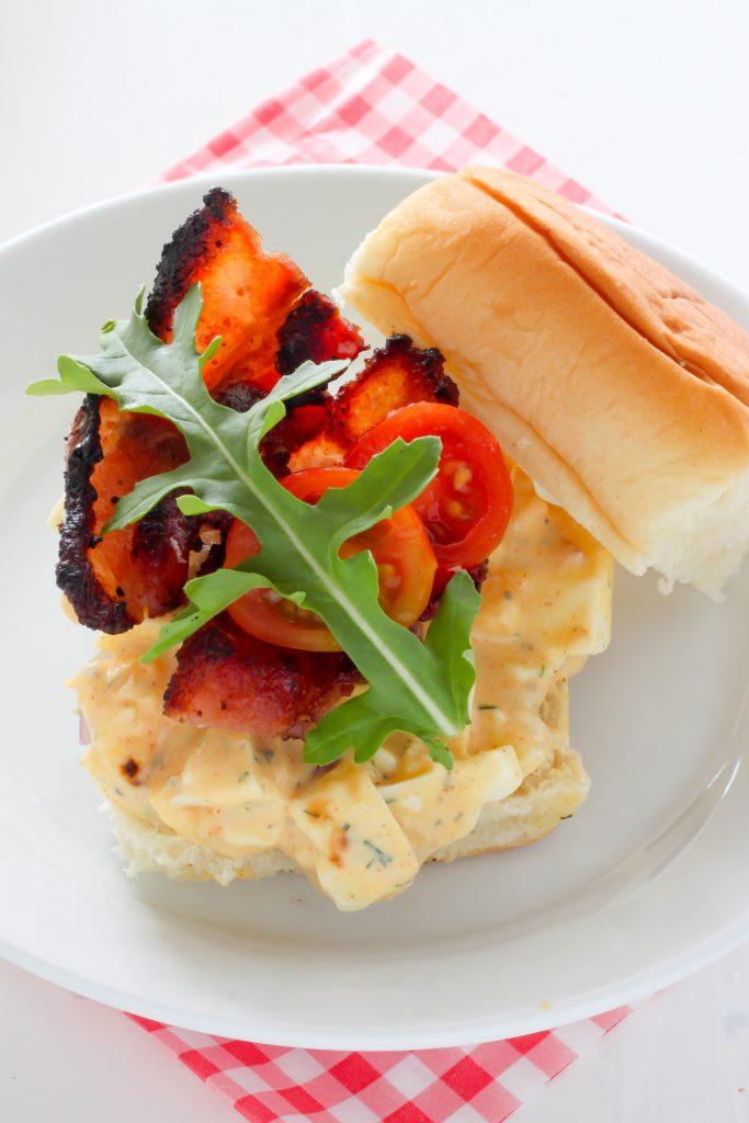 BLT Egg Salad Sliders