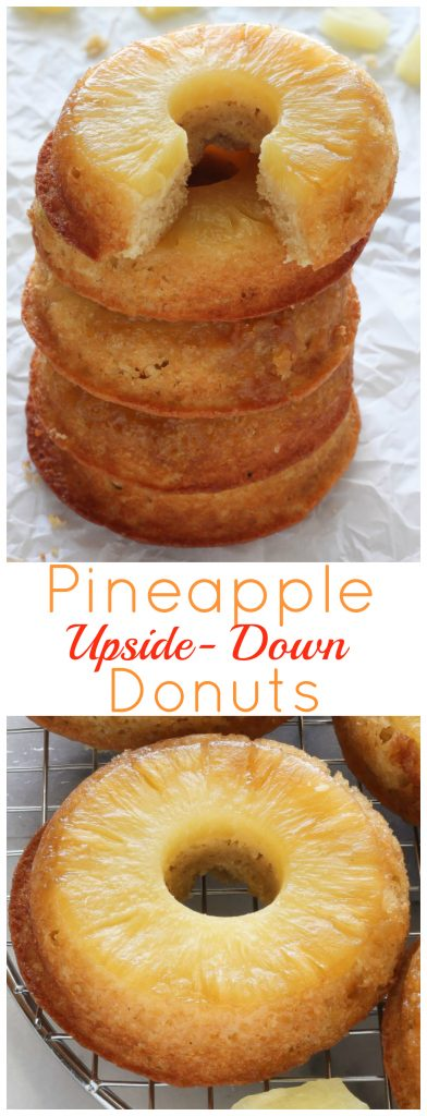 Pineapple Upside-Down Donuts - Baker by Nature