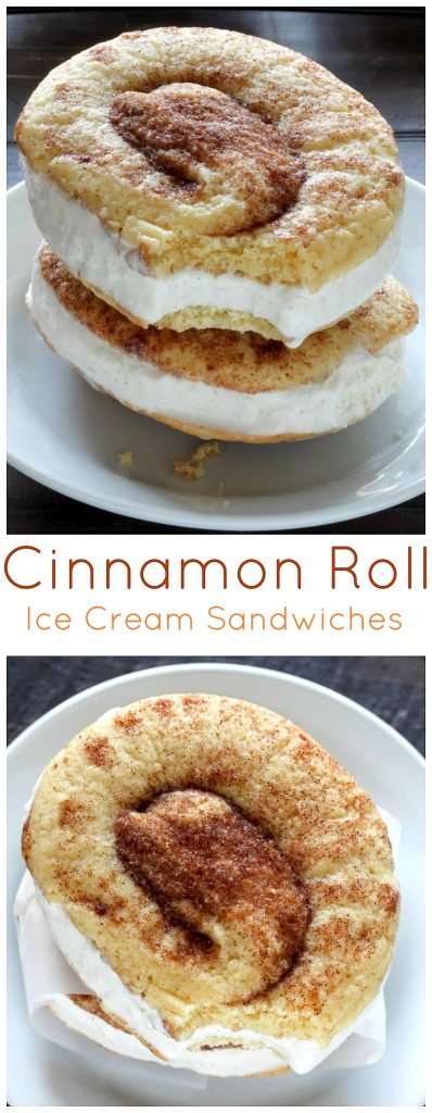 Cinnamon Roll Ice Cream Sandwices