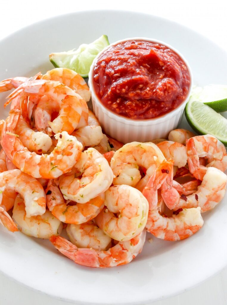 Roasted Lime and Garlic Shrimp Cocktail
